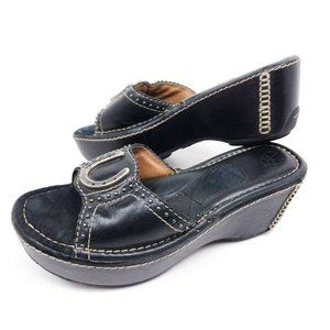 Ariat Sandals Womens 7.5 Slide Slip On Wedge Black